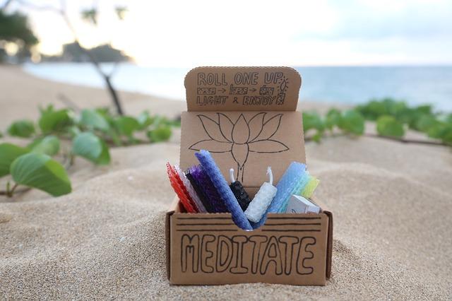 meditační svíčky